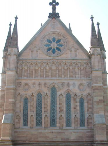 HEREFORD CATHEDRAL LADY CHAPEL EAST WINDOW CONSERVATION