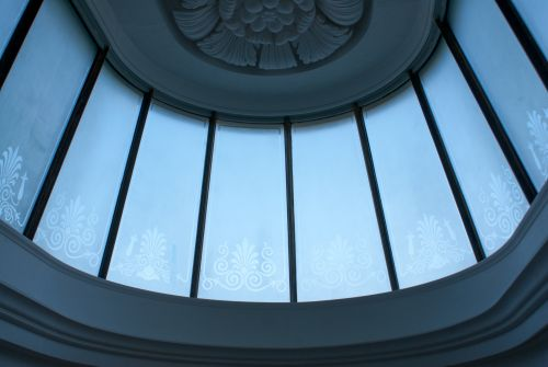 GLOUCESTERSHIRE HOUSE. ENAMELLED ROOFLIGHT