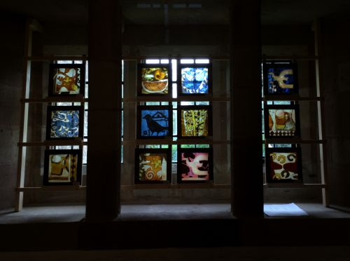 EXHIBITION PANELS DISPLAYED AT BROCKHAMPTON CHURCH.