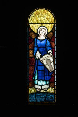 ST MICHAEL'S CHURCH, BREINTON. ST CECILIA.